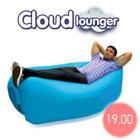 Nafukovací vak - lôžko Cloud lounger oranžový